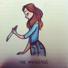 Watched the Americans for the first time.  #theamericans #kerirussel #art #artist #artwork #sketch #sketches #sketching #draw #drawing #doodle #doodles #doodling #cute #animation #cartoon #illustration #characterdesign #design #visdev #visualdevelopment #sketchbook