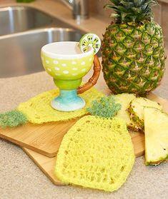 Pineapple Scrubby Dishcloth Free Crochet Pattern LW5453
