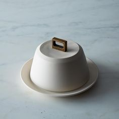 Bronze Handle Butter Dish