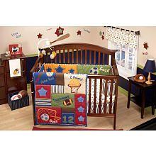 "NoJo Lil Champ 4-Piece Infant Crib Bedding Set - NoJo  - Babies""R""Us"