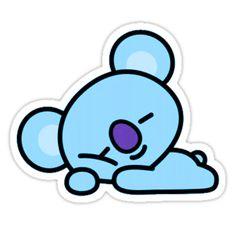 Koya~' Sticker by PrincessHojoon Cute Cartoon Wallpapers, Cute Wallpaper Backgrounds, Wallpaper Iphone Cute, Bts Wallpaper, Stickers Kawaii, Diy Stickers, Printable Stickers, Bts Emoji, Disney Canvas Paintings