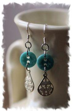 button dangle earrings.Craft ideas 3292 - LC.Pandahall.com