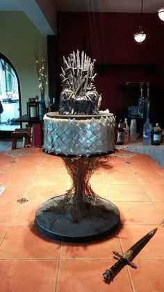 Game of Thrones inspired Grooms Cake - Cake by JustSimplyDelicious Game Of Thrones Birthday Cake, Game Of Thrones Theme, Birthday Cakes For Men, Cakes For Boys, Birthday Ideas, Movie Cakes, Garden Cakes, Cake Games, Unique Cakes