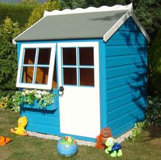 Lovely outdoor playhouse for kids