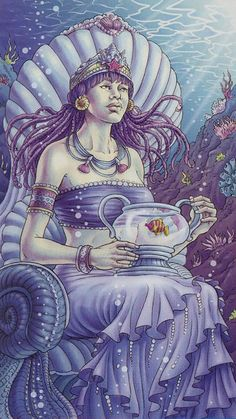 La reine de coupes - Tarot déesse universelle par Antonella Platano & Maria Caratti