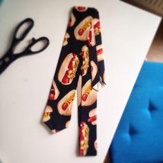 Hotdog tie #handmade #hotdog #tie #nellieclementine #hackney