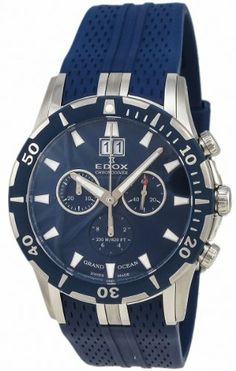 Edox Grand Ocean Chronodiver Big Date Chronograph Blue PVD Mens Luxury Sport Watch 10022-357B-BUIN List Price:	£3,275.00 Sale Price: £849.00