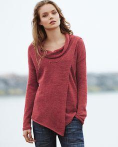 Image of Cowl Neck Alpaca Sweater