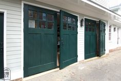 Real Carriage Doors & Sliding Hardware is the leading manufacturer of USA made carriage doors, barn doors, barn door hardware, and more. Carriage Doors, Carriage House, Barn Doors, Swing Out Garage Doors, Shed Playhouse, Garage Addition, Traditional Doors, Door Design, Play Houses