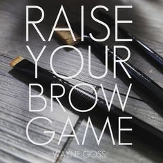 3 brushes to create the perfect brows! #waynegoss