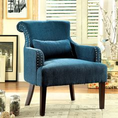 Furniture of America Romera Contemporary Accent Chair - Overstock™ Shopping - Great Deals on Furniture of America Living Room Chairs
