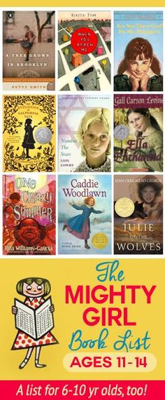 Raising girls that LOVE to read! A reading list for girls 11-14 years old. 4th Grade Book List, 7th Grade Reading List, 4th Grade Books, Children's Books, Read Books, Library Books, I Love Books, Book Club Books, Library Corner