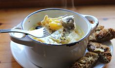 Emma's Sausage Baked Eggs Brunch Extraordinaire Professional Chef, Baked Eggs, Brunch Recipes, Mashed Potatoes, Sausage, Pork, Cooking Recipes, Stuffed Peppers, Baking