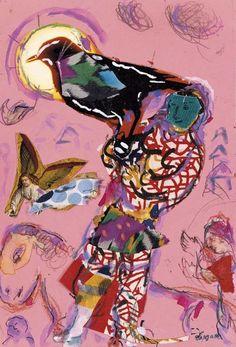 Esquisse pour L'Oiseleur, Marc Chagall. (1887 - 1985)