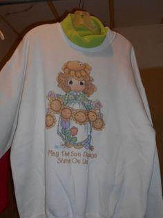 Women's Precious Moment's Sweatshirt, Size XL, May the Sun Always Shine on You #FruitoftheLoom #SweatshirtDroppedSleeve