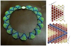 I LOVE this beaded necklace Bead Jewellery, Seed Bead Jewelry, Seed Beads, Beading Projects, Beading Tutorials, Beaded Jewelry Patterns, Beading Patterns, Peyote Patterns, Bead Crafts