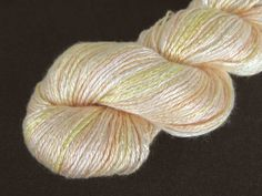 100 Bamboo Yarn Champagne Hand dyed organic by Klarabela on Etsy, $16.90