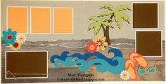 Cricut with Heart: Beach layout with Timberline paper