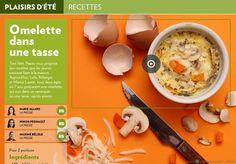 Tout l'été, Pause vous propose des recettes que les jeunes peuvent faire à la maison. Aujourd'hui, Leïlu Bélanger  et Marius Laurin, tous deux âgés de 7 ans, préparent une omelette qui cuit dans un ramequin  ou une tasse, rapido presto.