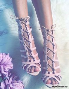 Green pink suede leather lace up sandals sexy open toe cross strap shoes high quality stiletto heel women sandals drop ship Schnür Heels, Pumps, High Heels, Strappy Heels, Stiletto Heels, Sexy Heels, Cute Shoes, Me Too Shoes, Heeled Boots