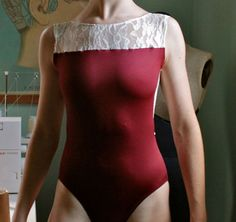 Burgundy N' Lace Leotard on Etsy, $42.00