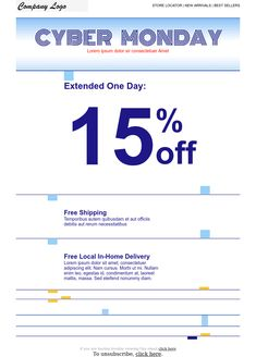 CyberMonday 2 -  responsive email newsletter templates #Shopping #eCommerce #store E Commerce, Responsive Email, Email Marketing Design, Ecommerce Store, Newsletter Templates, Lorem Ipsum, Company Logo, Design Inspiration, Shopping