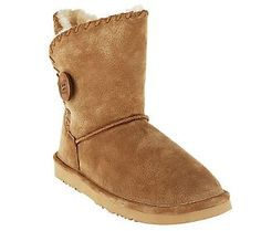 Lamo Snowmass Suede Water Resistant Ankle Boots w/ Faux Fur Lining - 6 colors to choose from!