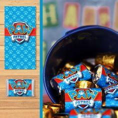 Free Paw Patrol Printables: Free Printable Paw Patrol Mini Candy Wrappers | Dark Paw Theme