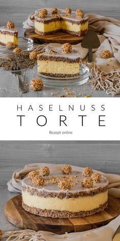 Haselnuss Torte - Ahalni Sweet Home - Leckere Haselnuss Torte gefüllt mit einer Vanille Creme. Easy Cheesecake Recipes, Easy Cookie Recipes, Fast Recipes, Food Cakes, Torte Au Chocolat, Hazelnut Cake, Chip Cookie Recipe, Flaky Pastry, Cake Mix Cookies
