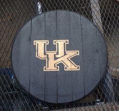 Kentucky Wildcats UK bourbon whiskey barrel head  by KyBarrel, $55.00