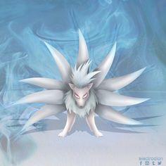 #shiny #ninetales #pokemon by electrodion