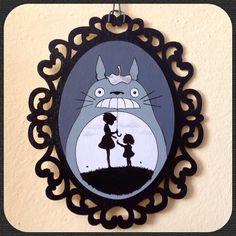 Quadretto Totoro fan art di IsolaSospesa su Etsy