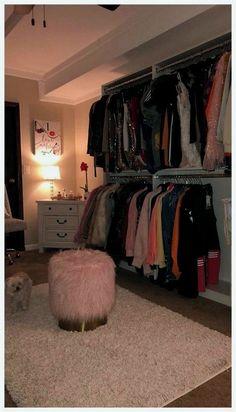 70 Ideas Dorm Room Closet Organization Home For 2019 Room Ideas Bedroom, Bedroom Decor, Dorm Room Closet, Cute Room Decor, Glam Room, Aesthetic Room Decor, Dream Rooms, My New Room, Dorm Decorations