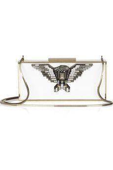 Lanvin  Golden Dream Swarovski crystal-embellished metal box clutch