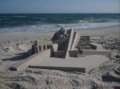 Juxtapoz Magazine - Calvin Seibert's Sandcastles