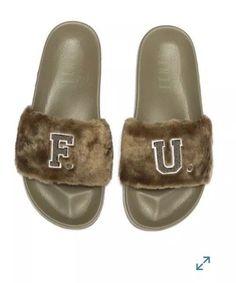 4d45758b480 PUMA FENTY PUMA by Rihanna Faux Fur Leadcat Slide Sandal  fashion  clothing   shoes  accessories  womensshoes  sandals (ebay link)