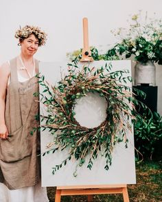 """Kathryn Cronin Fierceblooms on Instagram: """"A summer wreath inspired by the Serengeti summer of a couple of years ago…. . . A whirl of nigella and privet, stems of dried lemon balm,…"""" Dried Lemon, Lemon Balm, Nigella, Summer Wreath, Garden Styles, Stems, Wreaths, Inspired, Couples"""