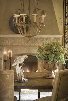 "AESTHETICALLY THINKING: FIRESIDE CHATS. I love barry Dixon's designs. This fp would look fantastic in my basement with a French castle ""theme"""