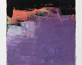 June 28, 2015 - Original Abstract Oil Painting - 9x9 painting (9 x 9 cm - app. 4 x 4 inch) with 8 x 10 inch mat