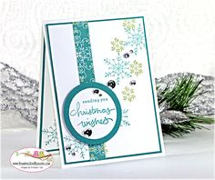 today's 10 minute or less Holiday Card - recipe shared here:  http://stampingwithsandi.com/endless-wishes-stamping-blogging/
