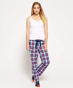 Discover the latest trends in menswear & womenswear at Superdry US. Lounge Pants Outfit, Trendy Outfits, Fashion Outfits, Womens Fashion, Lounge Logo, Funny Pajamas, Check Fabric, Sleepwear Women, Pants Pattern