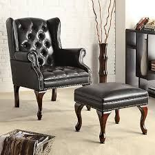 black leather tufted wingback chair - Google Search