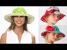 Learning how to make a hat should be your key sewing project this Summer. Video tutorial to help new sewers understand all the steps to making a hat. Hat Patterns To Sew, Baby Patterns, Sewing Patterns, Sewing For Beginners Diy, Sewing Tutorials, Sewing Projects, Make Your Own Hat, Sombrero A Crochet, Fleece Hats