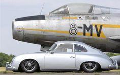 Silver Porsche 356 outlaw.