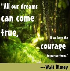 Dreams Walt Disney quote via www.FlowingWithChange.com