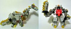 Two Adorable Lego Dinobots Transform Into Even More Adorable Lego Dinos Lego Dino, Lego Batman, Lego Projects, Projects For Kids, Lego Transformers, Lego Bots, Lego Animals, Lego Craft, Lego Mechs