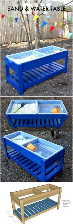 DIY Solid Wooden Sand and Water Table - 60+ DIY Sandbox Ideas and Projects for Kids - Page 2 of 10 - DIY & Crafts