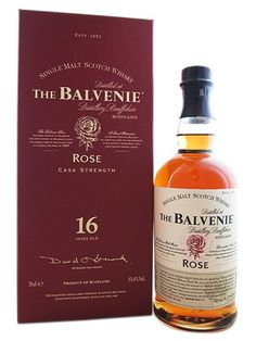 "The Balvenie Rose - Was only available at the distillery to customers who had taken the ""Connoisseur Tour"". [Single Malt Scotch Whisky]"