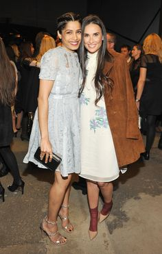 Freida Pinto and Demi Moore at Past Forward Premiere