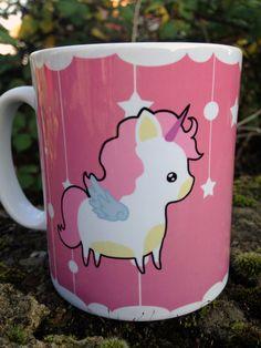 Chibicorn mug kawaii pastel goth style Pegasus by Drixproductions